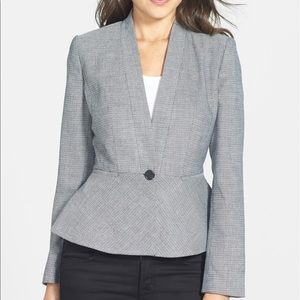 Halogen Nordstrom One-Button Peplum Blazer size 10